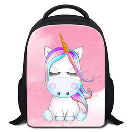 $enCountryForm.capitalKeyWord Canada - Cute Unicorn Designer School Backpack For Little Boy Girl Fashion School Bookbags For Kindergarten Kids Rucksack Child Bagpack Drop Shipping