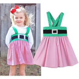b663258610d Christmas Baby girls print dress Children Santa Claus stripe suspender  princess dresses 2018 fashion Boutique Kids Clothing 2 colors C4977