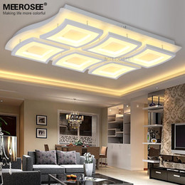 rectangle led ceiling light 2019 - Contemporary LED Rectangle Ceiling Light White Acrylic LED Lighting Fixture Creative Ceiling Lamp for Living room discou