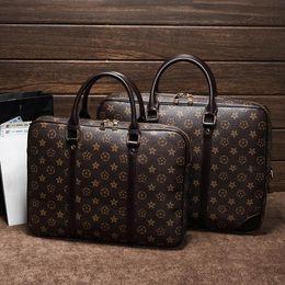 $enCountryForm.capitalKeyWord NZ - Wholesale brand women handbag classic printed business handbag large capacity leather men and women hand-held file bags fashion contrast col