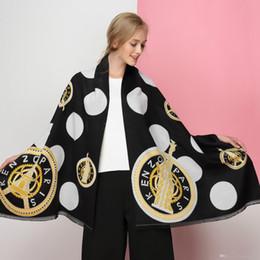 Blanket Scarfs NZ - 2018 autumn and winter new fashion brand thick warm geometric pattern ladies cashmere scarf shawl blanket christmas gift