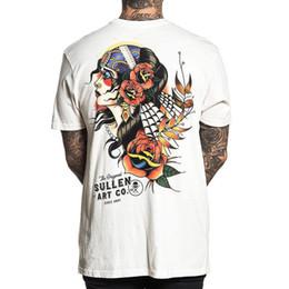 8c88559c Sullen Men's Gypsy Eyes T Shirt White Tee T-Shirts Tattooed Clothing Apparel