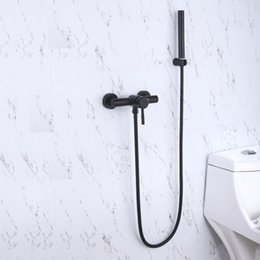 Discount shower cold hot water mixer - Strong brass Two mode spray shower head with 150mm Interval distance bathroom shower faucet Hot and cold water faucet mi