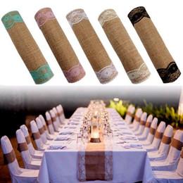 $enCountryForm.capitalKeyWord NZ - Wedding Table Decoration Wedding Favors 30cmx280cm Vintage Rustic Burlap Hessian Lace Table Runners Wedding Decoration white Decoration