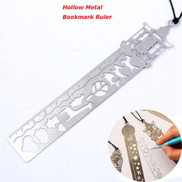 Kid ruler stationery online shopping - 1Pcs Creative Horse Birdcage Hollow Metal Bookmark Ruler Kids Student School Supplies Stationery gift