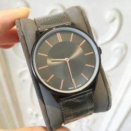 94671f3c230b TOP Moda casual reloj de cuarzo analógico hombre   mujeres ocio marca negro  lujo reloj de pulsera de acero inoxidable señora vestido de fiesta reloj  oringin ...