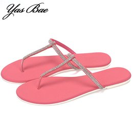 Flip Clips NZ - Female Summer Fashion Designer Rhinestone Bling tong Beach Dame Slippers Thong Sandals Flat Clip Flip Flop Femme Shoes for Women