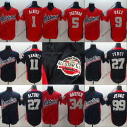 9825fa874ba Mens American National League 5 Freddie Freeman 27 Jose Altuve 34 Bryce  Harper 50 Mookie Betts 99 Aaron Judge 2018 All-Star Jersey