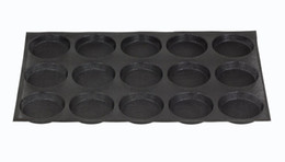 silicone loaf pans Australia - Stocked 4 -Inch Bun Baking Pan 15 Loaves Non -Stick Perforated Baking Mold Silicone Round Sandwich Bread Roll Muffin Pastry Pie Tart Tray