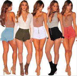 Sexy european clubwear online shopping - 2018 Women Short Jeans Summer Skinny Slim High Waist Denim Short Pants Women Tassel Short Jeans Sexy Night Clubwear