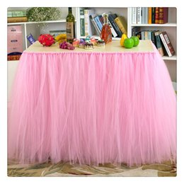 Wedding Table Cloths Wholesale Australia - Tulle Table Skirts Cover Table Cloth for Girl Princess Party Baby Shower Wedding Birthday Parties Slumber Party and Home Supplies