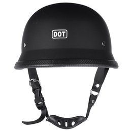 Chinese  3 Sizes Lightweight DOT Motorcycle Helmet M L XL German Style Half Open Face Helmets FOR Motocross Bike manufacturers