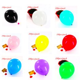 balloons green color NZ - 100pcs pack plain color balloons solid color theme birthday party wedding party decorations balloons party decorations