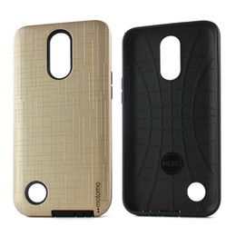 moto mobiles NZ - Dual layer PC+TPU Hybrid Mobile Phone Case For Motorola Moto E4 Plus For LG K20 Plus Brushed Armor Back Cover D