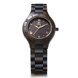 $enCountryForm.capitalKeyWord UK - LeeEv Brand EV1986A Women's Fashion Watch Handmade Wooden Watches Made of Natural Black Sandal Wood Analog Quartz Wrist Watch