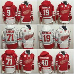 steve yzerman hoodies 2019 - Men Detroit Red Wings Hoodies 40 Henrik  Zetterberg 71 Dylan Larkin f7888e85c