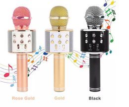 $enCountryForm.capitalKeyWord Canada - WS858 Bluetooth wireless Microphone HIFI Speaker Condenser Magic Karaoke Player MIC Speaker Record Music For Iphone Android Tablets PC