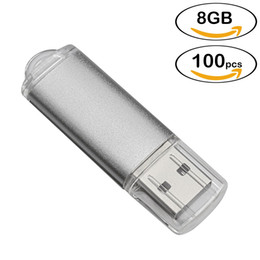$enCountryForm.capitalKeyWord NZ - Wholesale Silver Rectangle USB Drives Thumb Pen Flash Drive 64MB-32GB Memory Sticks Thumb Storage for Computer Laptop Macbook Tablet 100PCS