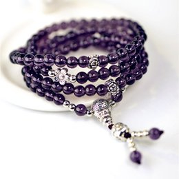 6mm Mala Beads Australia - Buddha 108 Beads 6mm Natural Bracelet Brazil Prayer Beads Multi-layer Rosary Mala Bracelet Free Shipping