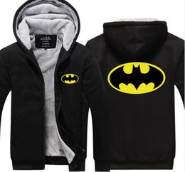 $enCountryForm.capitalKeyWord Australia - 2018 Hot New Men Batman Cosplay Winter Fleece Coat Print Hoodies Thicken Sweatshirts Unisex Cotton Jackets