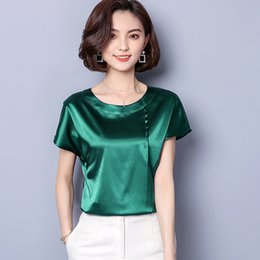 Women And Children Green Striped Chiffon Office Silk Blouse Womens Tops And Blouses 2019 Elegant Sexy Boho Long Sleeve Plus Size Slim Fit Fashion Suitable For Men