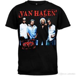 Toptan satış 2018 Yaz Rahat Adam Tişörtlü Van Halen-Damga 04 Tur T-Shirt Kısa Kollu Pamuk Üstleri Gömlek Erkekler Rahat T-shirt