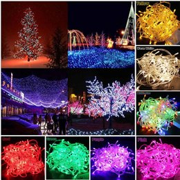 $enCountryForm.capitalKeyWord Australia - New Year Waterproof Garland LED Christmas Colourful Light String Lamp 50 m 500 LEDS 220V with EU Connector 8 Light Modes 10 piece lot