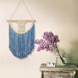 $enCountryForm.capitalKeyWord Canada - New Pattern Multicolor Bohemia Hand Knit Tapestry Cotton Technics Pendant Tassels Wall Hanging Fashion Home Furnishing Decorative 42sj Y