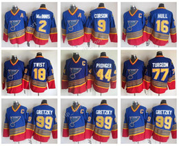Al mAcinnis online shopping - 99 Wayne Gretzky Jerseys Men St Louis Blues Hockey Al Macinnis Brett Hull Vintage Jersey CCM Doug Gilmour Brian Sutter