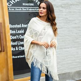 Loose crochet shawL online shopping - Womnes Loose Knitting Scarf Tops Elegant Tassels Shawl Warm All Match Autumn Winter Sweaters Outwear Caps SJ465U