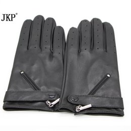 long black leather gloves 2019 - 2018new fashionWomen's Long Genuine Leather Warm Gloves Hot Black Sexy Party Evening Adult Winter Mittens Real Leather G