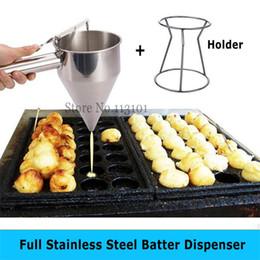 Brand Kitchen NZ - Stainless Steel Batter Dispenser Food Tool Takoyaki Dispenser Hopper Kitchen Appliance for Taiyaki and Waffle Making Brand New