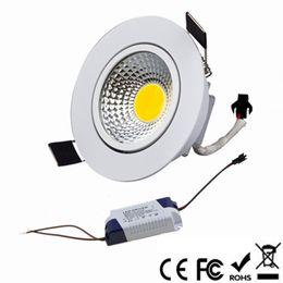 1 pcs Super Bright Dimmable Led downlight light COB Spot Spot de Teto 3 w 5 w 7 w 10 w 12 w luzes embutidas no teto Iluminação Interior venda por atacado