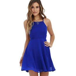 abfc6a66822 Loveying Loose Summer Dress Women Denim Halter Neck Elegant Evening Party Lady  Dresses Plus Size 2XL Sleeveless Mini Dress