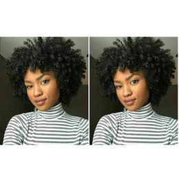 $enCountryForm.capitalKeyWord NZ - hot sales soft brazilian Hair short kinky curly full wig simulation human hair curly wig for lady in stock