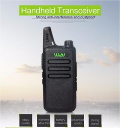 Toptan satış Ultra-Ince Mini Walkie Talkie Profesyonel Uzun Menzilli El CB Radyo Verici Uhf Wln Kd-C1 İki Yönlü Radyo Communicator Için