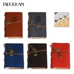 leather sketchbooks Canada - Pirate Anchors Notebook 12.5*18cm Soft Leather Memo Pad Planner Diary Book Notebooks Office Stationery Supplies Sketchbook Gift