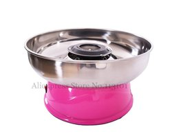 candy floss machines 2019 - Electric Candy Floss Maker Pink Cotton Candy Machine with Stainless Steel Bowl 420W 220V DIY Home Use