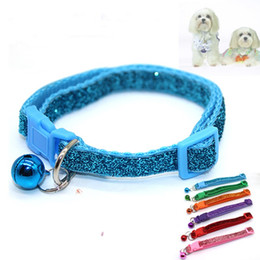 Bell color online shopping - Dog Collars Articles Small Horse Bell Sequins Pet Supplies Portable Protection Kitty Neck Ring Pure Color bl bb