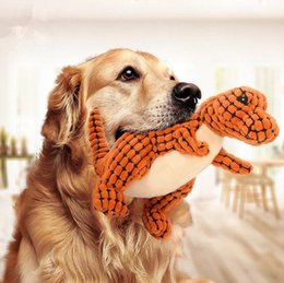 $enCountryForm.capitalKeyWord NZ - Lovely Dog Pet Chew Toys Canvas Pet Puppy Dinosaur Plush Squeaker Squeaky Toys Bite Toys for Puppy Accessories Pet Supplies