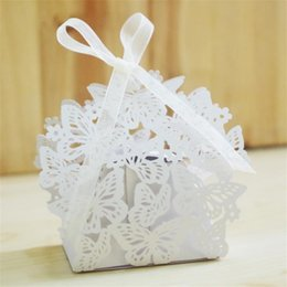 Wholesale 10pcs Gift bag candy box Laser Cutting Gift Cupcake Boxes for Weeding Festival Decoration party supplies Favor Decor