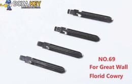 $enCountryForm.capitalKeyWord Australia - (5pcs) NO.69 Metal Blank Uncut Flip KD Remote Key Blade Type 69 for Great Wall Florid Cowry