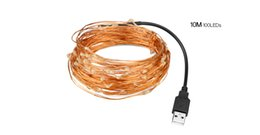 $enCountryForm.capitalKeyWord UK - 5M 10M LED copper wire night light DC 5V USB LED holiday light string light TV PC Monitor Wedding Chirstmas Party Holiday tape