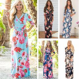 $enCountryForm.capitalKeyWord Canada - Fashion Women Summer Beach Dress Floral Print Maxi Boho Style Long Dress Evening Party Bandage Bodycon Plus Size Vestidos OUC3097