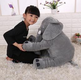 $enCountryForm.capitalKeyWord Australia - Plush gift Elephant Plush Toys dolls Elephant Stuffed Animal Toy Elephants Throw Pillow Elephant Baby sleeping High quality