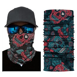 Apparel Accessories Outdoor Triangle Scarf Colorful Face Mask Graffiti Camouflage Skeleton Printing Motorcycle Cycling Bandana Neck Warmer Men's Masks