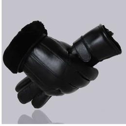 Men Gloves Leather Sheepskin Australia - MPPM Hot Sale Men sheepskin gloves genuine leather glove for men winter Outdoor warm fur thickening thermal patchwork gloves