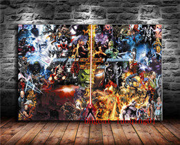 Marvel Canvas Prints NZ - CHILDRENS MARVEL VS DC LEGENDS CHARACTERS , Canvas Pieces Home Decor HD Printed Modern Art Painting on Canvas (Unframed Framed)