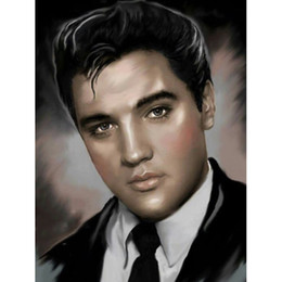 "elvis presley decor 2020 - 5D DIY Diamond Painting ""Elvis Presley"" Embroidery Full Square Diamond Cross Stitch Mosaic Decor Gift"