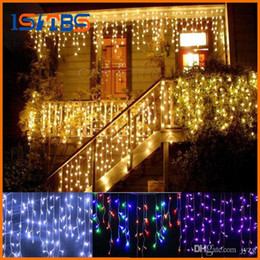 figure candles NZ - christmas outdoor decoration 3.5m Droop 0.3-0.5m curtain icicle string led lights 220V 110V New year Garden Xmas Wedding Party
